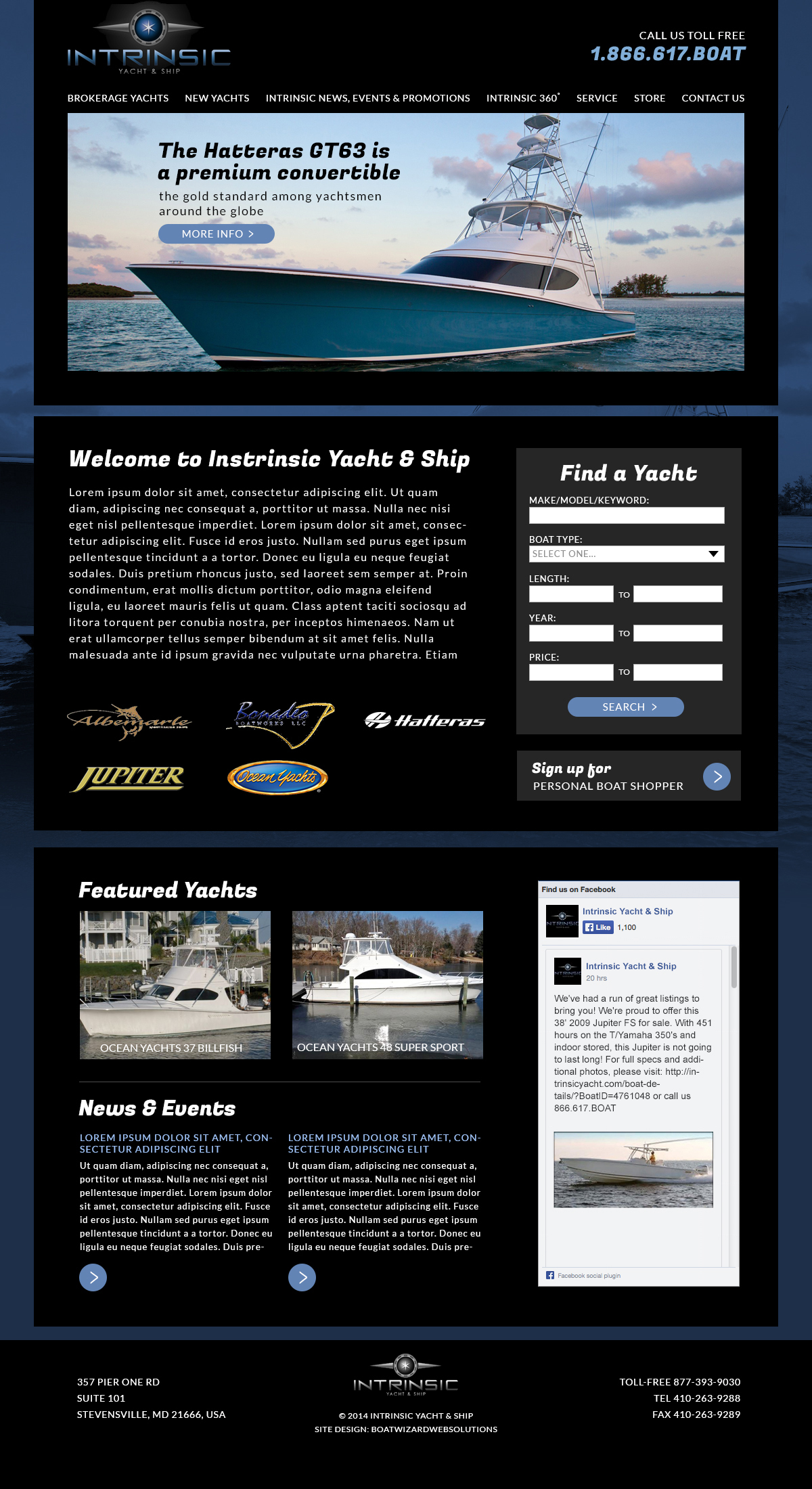 Intrinsic Yacht & Ship web site